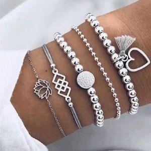 Round Stone Tassel Bracelet set 🤍